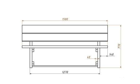 Скамейка своими руками - самая простая конструкция