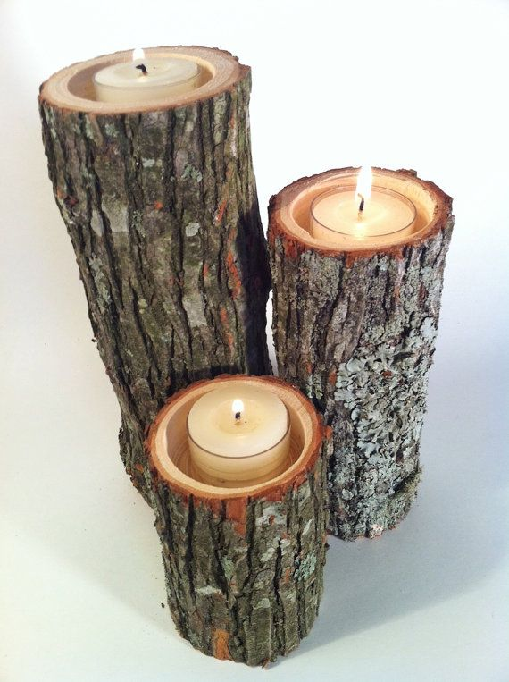 Деревянные подсвечник своими руками